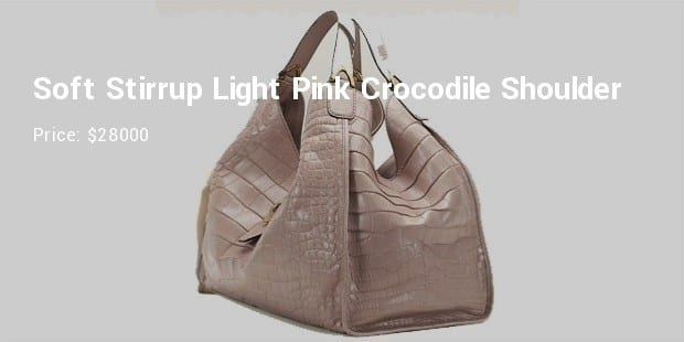af8a50e101b08 5. Soft Stirrup Light Pink Crocodile Shoulder Bag