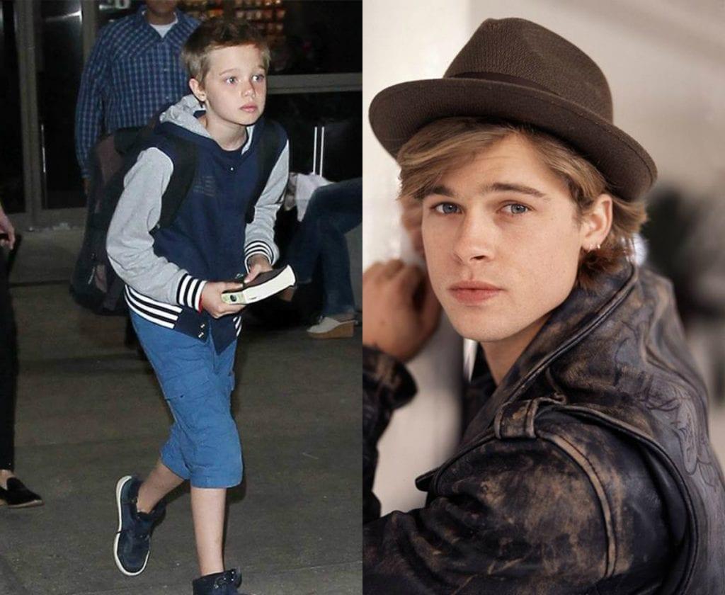 Shiloh Jolie-Pitt and Brad Pitt – Like father, like daughter!