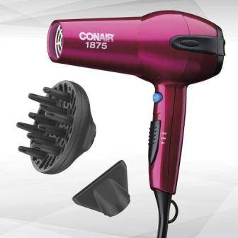 Conair 1875 Watt Ionic Ceramic Hair Dryer for curly hair
