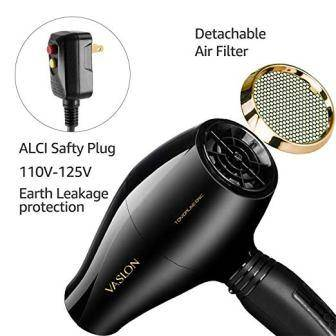 Vaslon 1875W Hair Dryer with Diffuser for curly hair