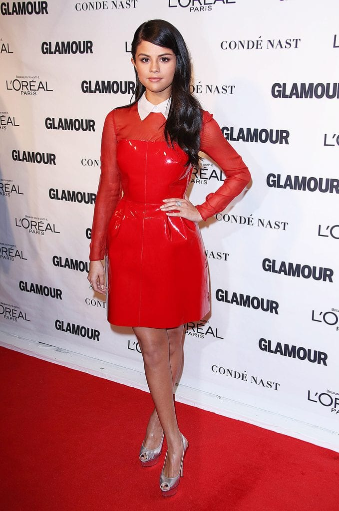 2d2be17734f Selena Gomez attending the Glamour Women of the Year Awards in 2015.