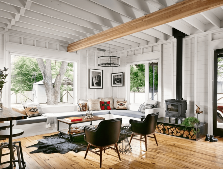 What does a modern farmhouse design look like the frisky - Modern farmhouse living room ...