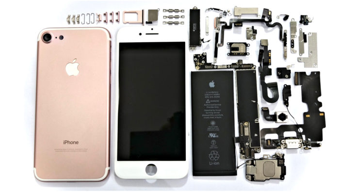 Apple iPhone and all of its parts