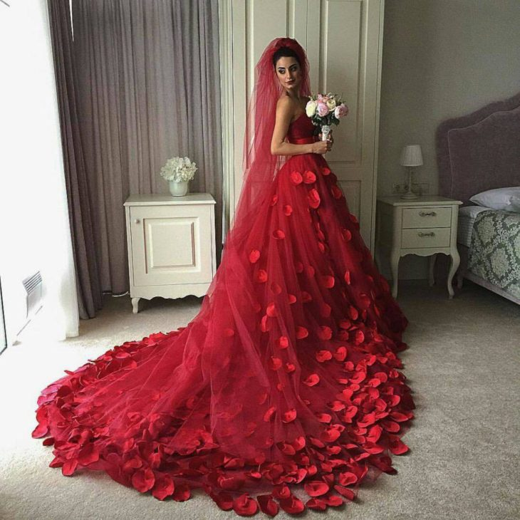 Red And White Wedding Dresses 2013: Best 15 Red Wedding Dresses In 2019