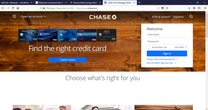 Why you should choose Chase Bank - The Frisky