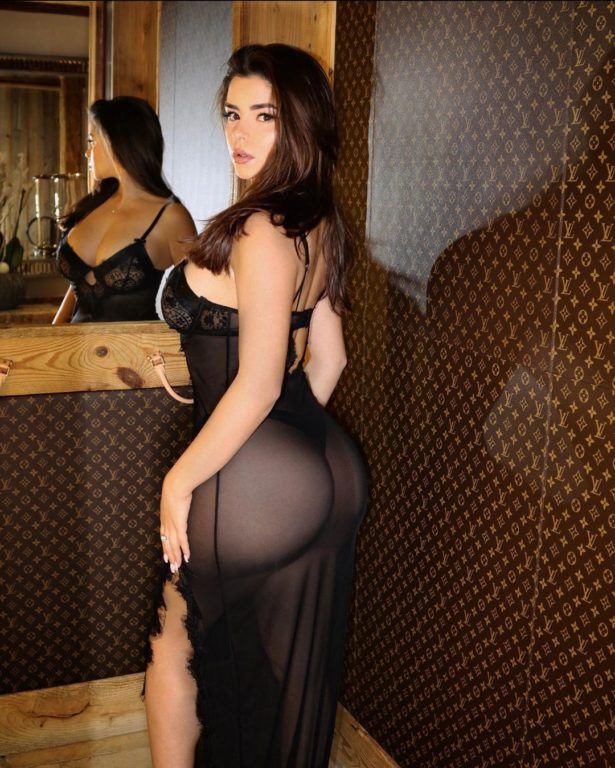 Demi Rose Looking Stunning in a Sheer Dress